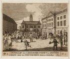 Overgaaf der leydsche poort te amsterdam aan de pruyschen, den 10 october 1787