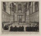 Afbeelding van het Noordhollandsch Sinode, zo als het gehouden wordt, in het Koo…
