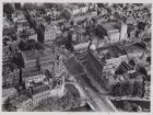 Luchtfoto van het Leidseplein en omgeving gezien in noordoostelijke richting
