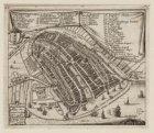 Amsterdam ten tweede mael vergroot is eerst met steene Mueren omvangen in den Ia…
