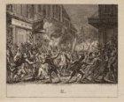 Begrafenis van Daniël Raap. Vernieling van de voorpui van het huis van de koopma…