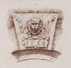 Gevelsteen met leeuwenkop, Anno 1560. Techniek: druk