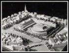 Maquette van Stadhuis-Muziektheater van de architecten Wilhelm Holzbauer en Cees…