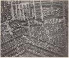 Luchtfoto van de Singelgracht (midden) en omgeving gezien in noordelijke richtin…