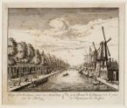 Gezigt van de Overtoomse vaart van Amsterdam naar de Pestbrug