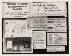 Collage van krantenknipsels, voedselbonnen en een stempelkaart