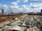 Bouwput voor de bouw van het complex IJ-dock in het Afgesloten IJ aan de Westerd…