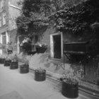Langestraat 31 (ged.) en een deel van de tuinmuur van Singel 58-64