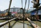 Werkzaamheden aan de Noord/Zuidlijn op het Europaplein. Op de achtergrond de Eur…