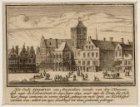 Het Oude Stadhuis van Amsterdam ziende van den Nieuwendyk naar de Kalverstraet i…