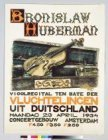 Affiche voor een vioolrecital van Bronislaw Hubermann in het Concertgebouw ten b…