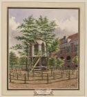 Koepel met Dooltuin van het Doolhof te Amsterdam (verso