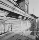 Nieuwe Herengracht 143 (ged.) - 151, detail kroonlijst tijdens restauratie van n…
