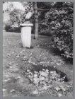 Buste van schrijver Arthur van Schendel (1874-1946) op het Leidsebosje naast de …