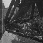 Zeedijk 2, de Sint Olofskapel, detail van de kap na de brand van 1 juni 1966