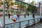 Straatvoetbal aan de Van Beuningenstraat