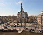 De Westermarkt met de Westerkerk, Prinsengracht 279-281, gezien vanaf het dak va…
