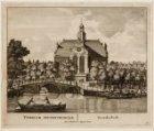 Noordermarkt met Noorderkerk, gezien over de Prinsengracht