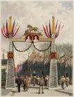Bezoek koning Willem III en koningin Emma. Erepoort op het Kattenburgerplein