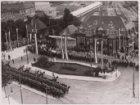40-jarig regeringsjubileum koningin Wilhelmina (1898-1938), aankomst Haarlemmerm…