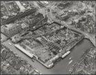 Luchtfoto van de bouwput van het Stadhuis Muziektheater