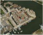 Luchtfoto van het Windroosplein en omgeving, gezien in noordoostelijke richting