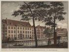 Gezicht, van het Luthersche-Weeshuis, te Amsterdam