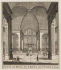 De Kerk van Binnen van ''t Zuyden naa ''t Noorden te Zien