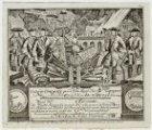 Burgerwachtbriefje met de oproep voor [Ernst Frederik?] Hanau waarin hem 'De wac…