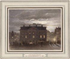 Het Commandantshuis in 1877