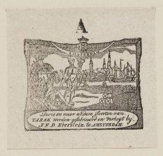 Vignet tabakshandel J.F.D. Eberstein