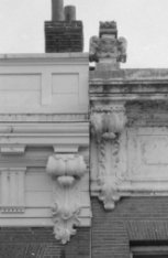Keizersgracht 261 (ged.) - 263 (ged.), detail geveltoppen
