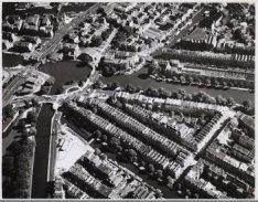 Luchtfoto van de Staatsliedenbuurt, gezien naar het oosten