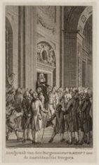 26 Februari. Aanspraak van den Burgemeester H. Hooft aan de Amsteldamsche Burger…