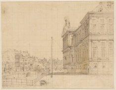 Het Paleis van de zuid- en westzijde, Nieuwezijds Voorburgwal 147, van de zijde …