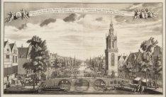 Gesigt van de Jan Roode Poorts Tooren, te sien, naar de Luytersche Nieuwe Kerk t…