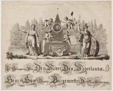 Gedenkprent voor Hendrik Danielsz. Hooft (1716-1794), schepen en burgemeester va…