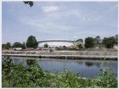 Panoramafoto van de realisatie van de uitbreiding van het Westerpark op het terr…