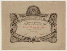 Bewijs van lidmaatschap van Arti & Amicitiae van het kunstlievend lid A.H. Walte…