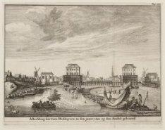 Afbeelding der twee Blokhuyzen, in den jaare 1650. op den Amstel gebouwd