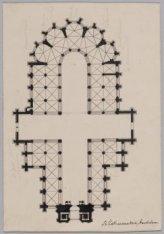 Plattegrond van de Nieuwe Kerk, Nieuwezijds Voorburgwal 143 en Dam 12