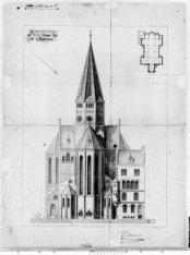Achterkant van de Posthoornkerk, Haarlemmer Houttuinen 47-49