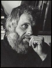Portret van beeldend kunstenaar Viktor IV (pseudoniem voor Walter Carl Gluck, 19…