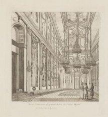 Vue de l'intérieur du grand Salon du Palais Roijal
