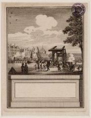 IJgracht, de latere Prins Hendrikkade tijdens gevechten 30 mei 1787
