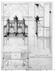 Ontwerp van het orgel voor de Nieuwe Waalse Kerk, Keizersgracht 676, wegens de h…