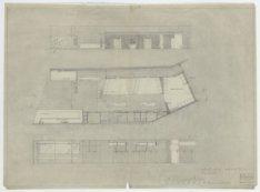 Bata schoenenwinkel, Kalverstraat 110-112. Schetsplan met plattegrond en wandaan…