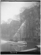 Brand in de uitgeverij Holdert & Co., gevestigd in gebouw Felix Meritis, Keizers…