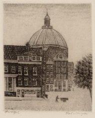 Ronde Lutherse Kerk, Singel 11, links Stromarkt 1-3 en in het midden Stromarkt 2…