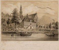 Amsterdam. Vue de l'eglise dite Westerkerk